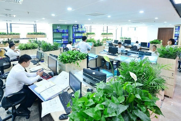 Vách ngăn văn phòng theo phong cách Eco